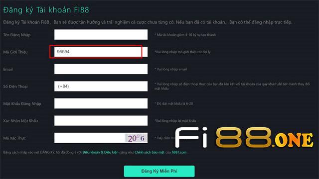 đăng ký tài khoản chơi tại nhà cái Fi88
